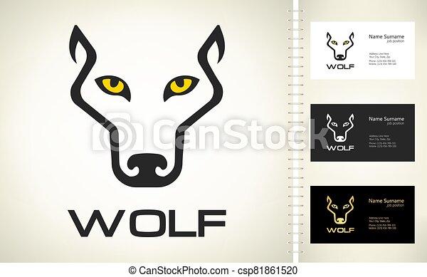 Wolf head logo vector. Animal design. - csp81861520