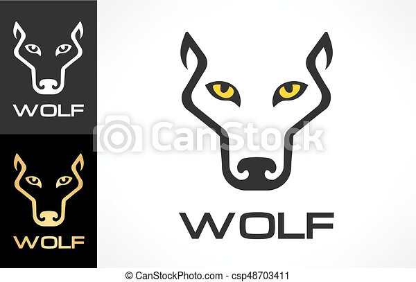 Wolf head logo vector. Animal design. - csp48703411