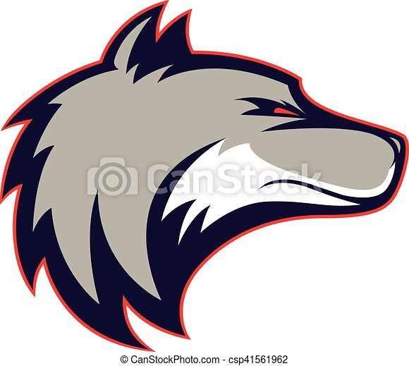 wolf head mascot clipart picture of a wolf head cartoon clip art rh canstockphoto com Wolf Head Drawings wolf head emblem