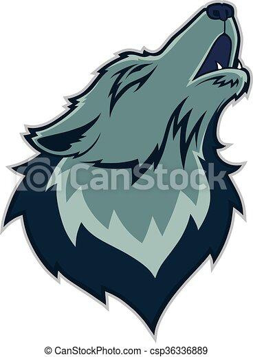 Wolf head mascot - csp36336889