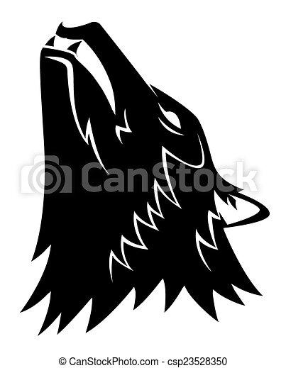 Wolf Head Tattoo - csp23528350