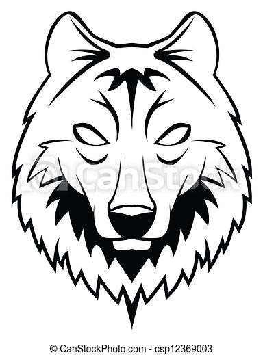 wolf head - csp12369003