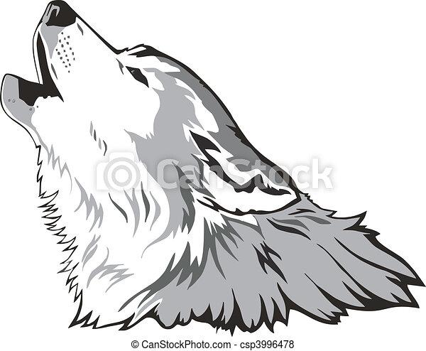 Wolf head vector - csp3996478