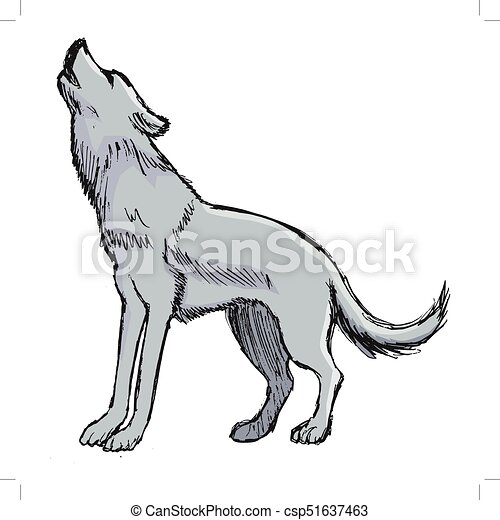 Howling Wolf Graphic Art Drawings