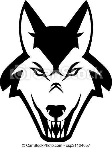 Wolf illustration design - csp31124057