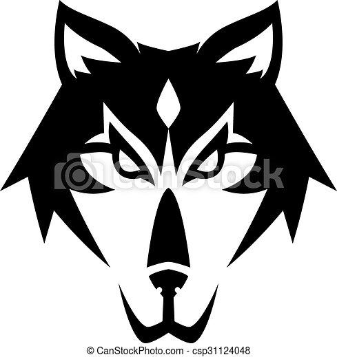 Wolf illustration design - csp31124048
