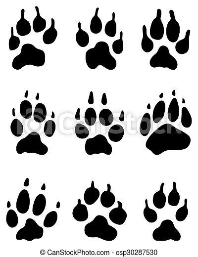 wolf paw - csp30287530