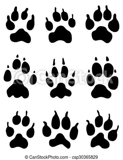 wolf paw - csp30365829