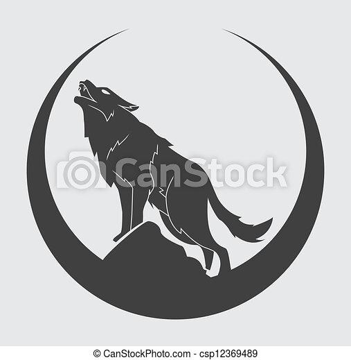 wolf symbol - csp12369489