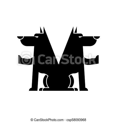 0a5e11fdd Wolf symbol. Werewolf Sign. Forest predator. Vector illustration -  csp58093968