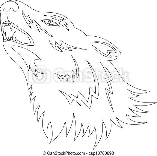 Wolf tattoo - csp10780698