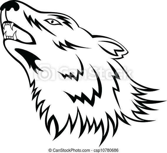 Wolf tattoo - csp10780686