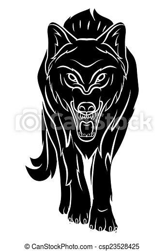 wolf tattoo - csp23528425