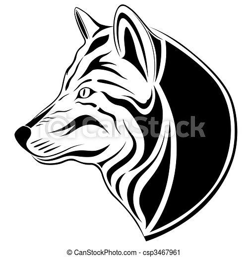 Wolf, tattoo - csp3467961