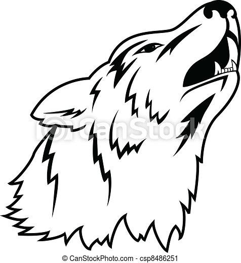 Wolf tattoo - csp8486251