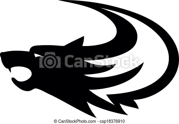tribal wolf tattoo style vector vector clip art search rh canstockphoto com wolf vector free wolf vector free