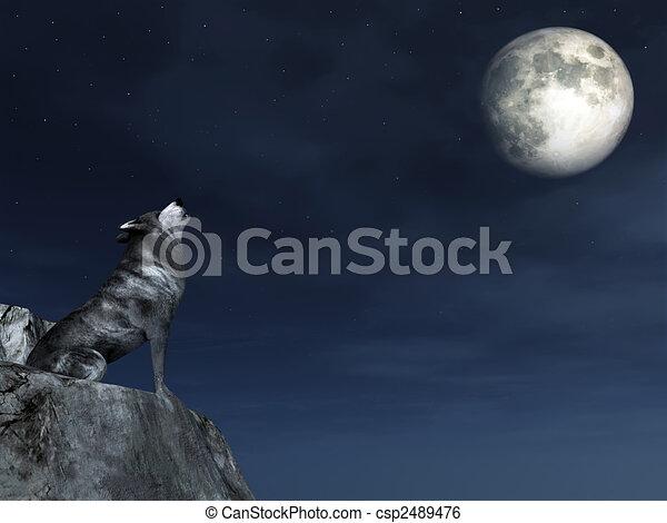 wolf, weinen - csp2489476