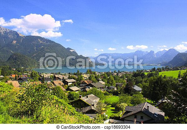 Wolfgangsee lake in Alps, Austria - csp18693304