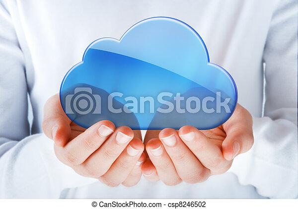 wolk, gegevensverwerking - csp8246502