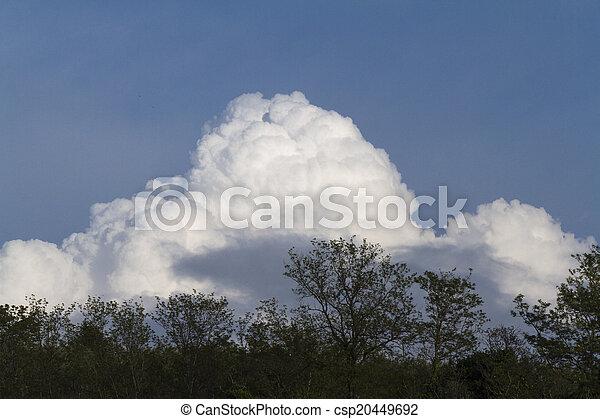 wolkenhimmel, himmelsgewölbe - csp20449692