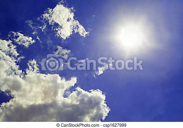 Sky Background. Sonne und Wolken im Hintergrund 2 - csp1627999