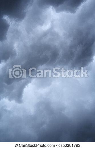 wolkenhimmel, stürmisch - csp0381793