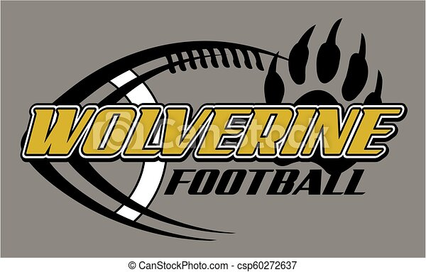 Wolverine football team design with laces and paw print ...