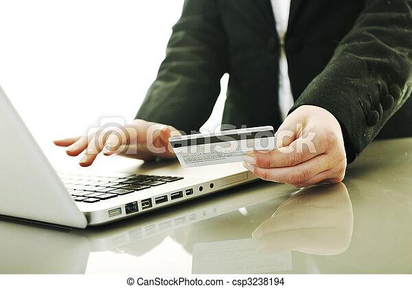 woman ügy, pénz, lebonyolítás, online, gyártás - csp3238194