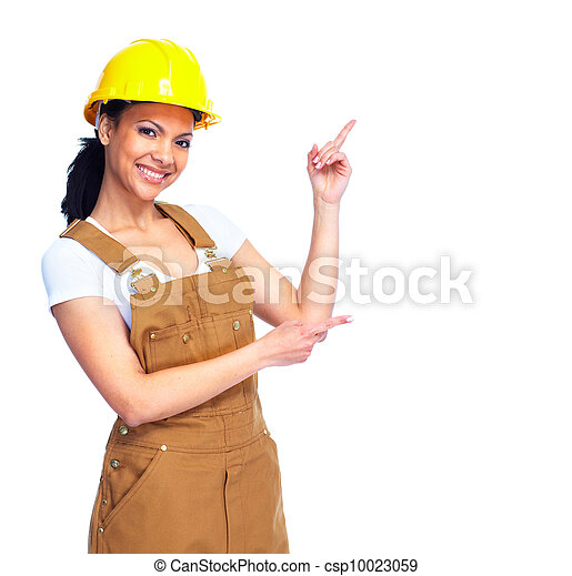 woman., εργάτης  - csp10023059
