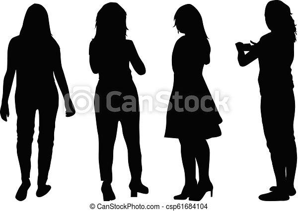 woman., シルエット - csp61684104