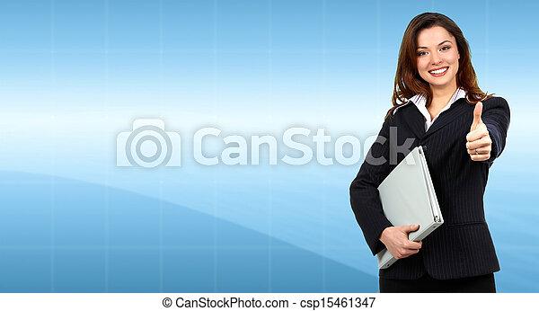woman., 事務 - csp15461347
