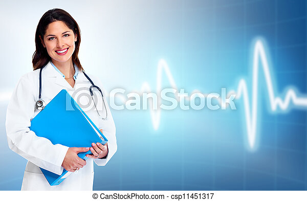 woman., 健康, care., 醫生 - csp11451317