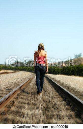 Woman Alone - csp0000491