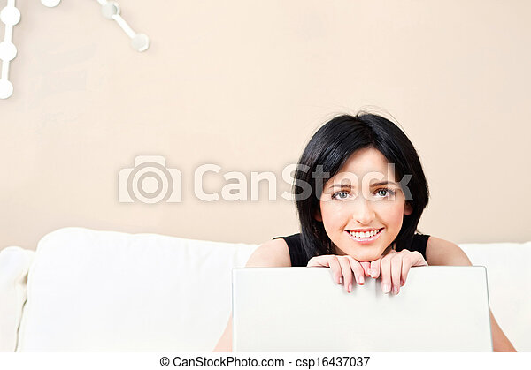 woman and laptop - csp16437037