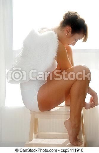 Woman Angel - csp3411918