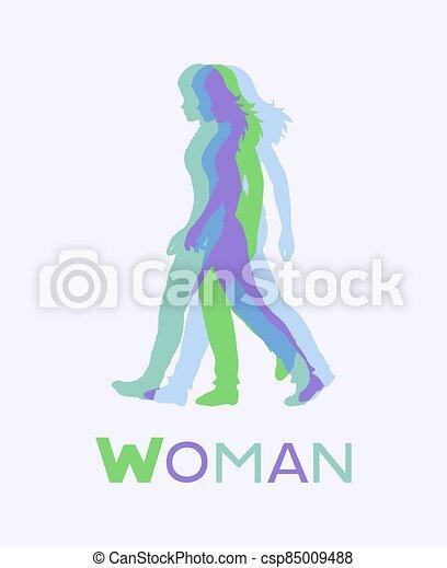 woman art draw - csp85009488