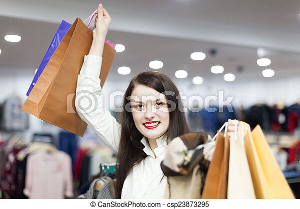 woman at clothing  store - csp23873295