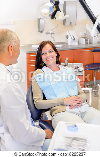 Woman at dentist surgery  - csp18225237