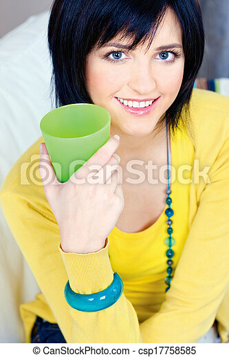woman at home - csp17758585