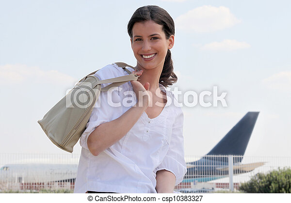 Woman at the airport - csp10383327