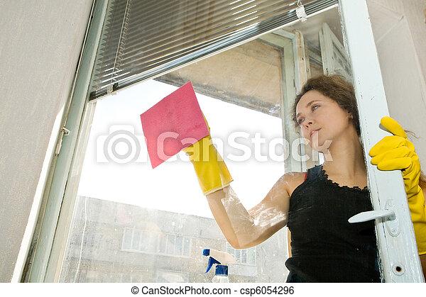 Woman at window - csp6054296
