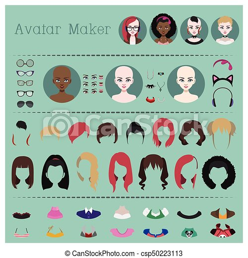 Woman avatar maker