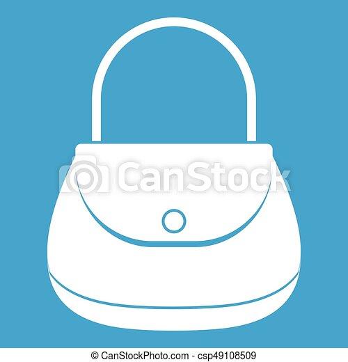 Woman bag icon white - csp49108509