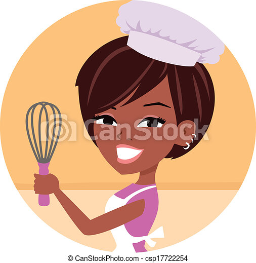 Woman Baker Chef African American - csp17722254