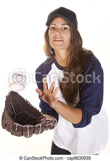 Woman Baseball or Softball Player C - csp9630939