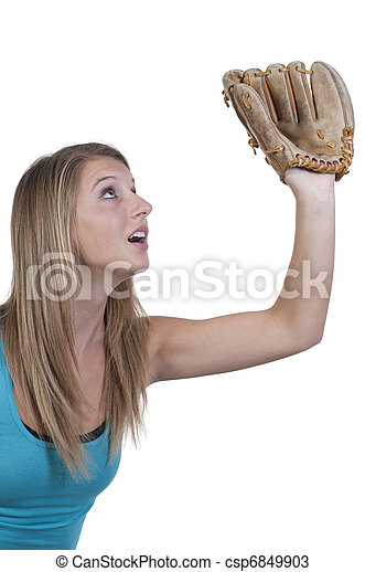 Woman Baseball Player - csp6849903