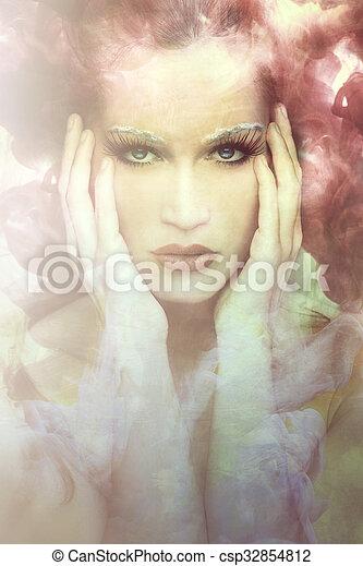 woman beauty fantasy - csp32854812