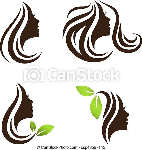 woman beauty hair spa salon logo design set woman beauty eps rh canstockphoto com hair salon logo creator free hair salon logo creator