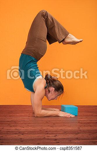 Woman Bends Backward - csp8351587