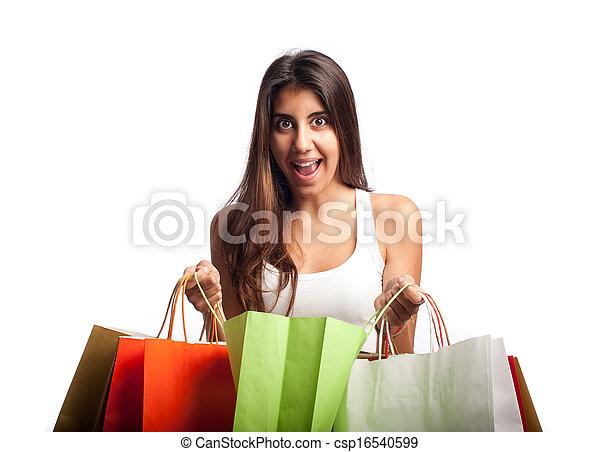 woman bevásárol, fiatal - csp16540599